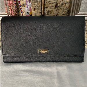 Spacious black Kate spade wallet